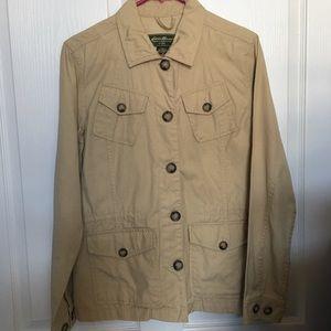 Eddie Bauer size M Brown Tan Button front jacket